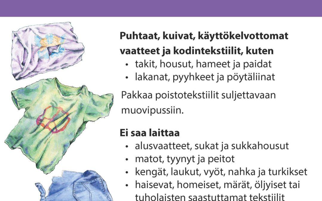 Kiertokapula aloittaa poistotekstiilin keräyskokeilun Hämeenlinnassa